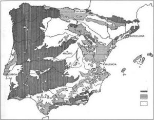 Resultado de imagen de mapa litologico de españa