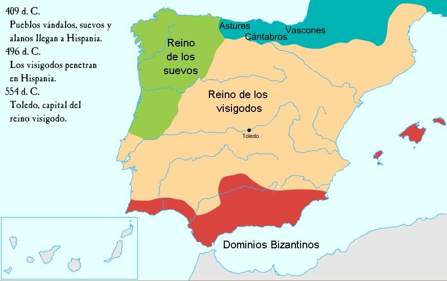Reino Visigodo hasta Leovigildo
