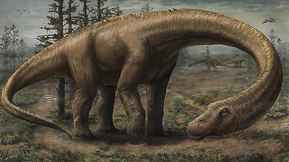 Hallan un dinosaurio más pesado que un Boeing