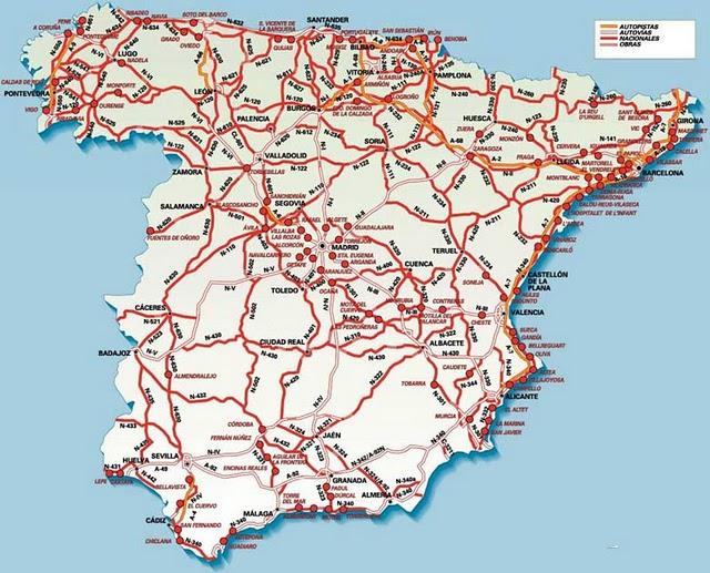 Mapa Carreteras España 2018.Mapa De Carreteras Espana Recursos Academicos